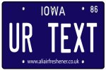 Personalised Iowa License Plate