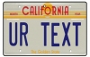 Personalised California License Plate