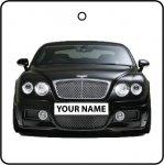 Your Name Black Bentley Continental GT