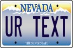 Personalised Nevada License Plate