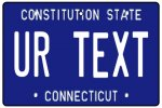 Personalised Connecticut License Plate