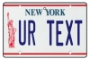 Personalised New York License Plate