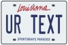 Personalised Louisiana License Plate