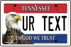 Personalised Tennessee License Plate
