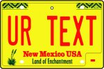 Personalised New Mexico License Plate