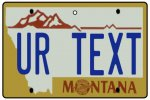 Personalised Montana License Plate