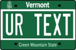 Personalised Vermont License Plate