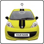 Your Name Yellow Peugeot 107