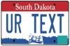 Personalised South Dakota License Plate