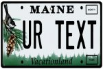 Personalised Maine License Plate
