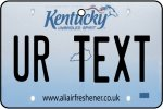 Personalised Kentucky License Plate