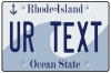 Personalised Rhode Island License Plate