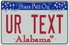 Personalised Alabama License Plate