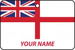 Personalised British Royal Navy White Ensign