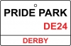 Derby / Pride Park Street Sign