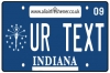 Personalised Indiana License Plate