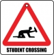 Student Crossing Novelty Road Sign