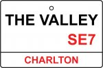 Charlton Athletic / The Valley Street Sign