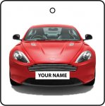Your Name Red Aston Martin DB9
