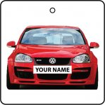 Your Name Volkswagen Golf - Red