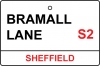 Sheffield Utd / Bramall Lane Street Sign