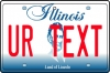 Personalised Illinois License Plate