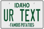 Personalised Idaho License Plate