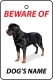 Personalised Dog's Name Rottweiler