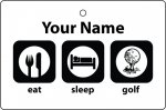 Personalised Eat Sleep Golf