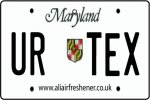 Personalised Maryland License Plate