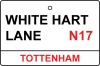 Tottenham / White Hart Lane Street Sign