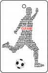 Custom Football Player Word Art