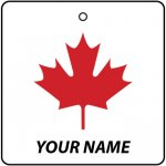 Personalised Canadian Maple Leaf