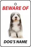 Personalised Dog's Name Bearded Collie