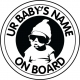 Personalised Cool Baby On Board