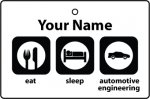 Personalised Eat Sleep Automotive Engineering