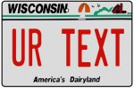 Personalised Wisconsin License Plate