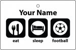 Personalised Eat Sleep Football