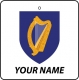 Personalised Ireland Coat of Arms