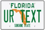 Personalised Florida License Plate