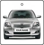 Your Name Silver Toyota Avensis